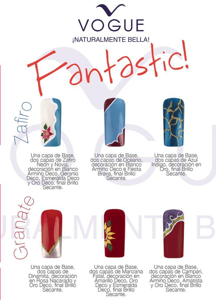 Decoración de uñas con esmaltes VOGUE Fantastic