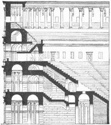 Section of the Colosseum from the Lexikon der gesamten Technik,