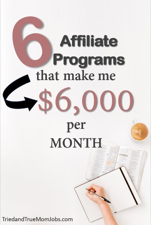 6 Best Affiliate Programs to Make Money And Earn $6,000 a Month – Senior ladies stuff
