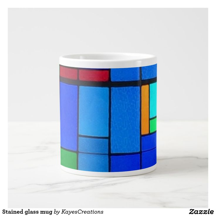 Stained glass mug