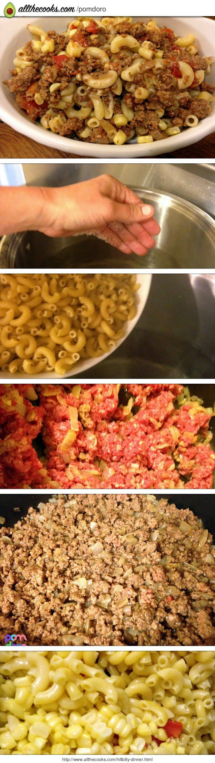 """Hillbilly Dinner! 4.75 stars, 4 reviews. """"Used bison rather than beef and fresh ingredients rather than canned. Very simple dish to prepare with nice texture. Add herbs and spices to your preference for additional flavor."""" @allthecooks #recipe"""