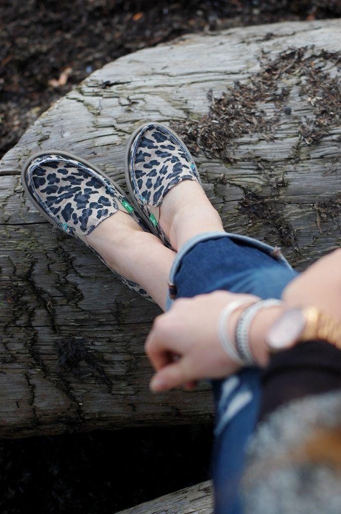 Leopard print Sanuk shoes (See more at http://covetandacquire.blogspot.ca/)