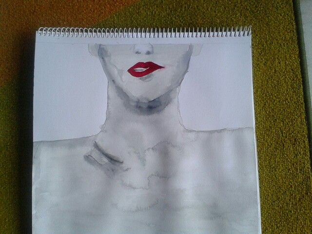 Lips .Painting by me
