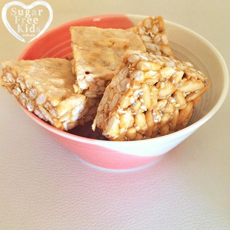 Healthy Rice Bubble Slice recipe | Sugar Free Kids