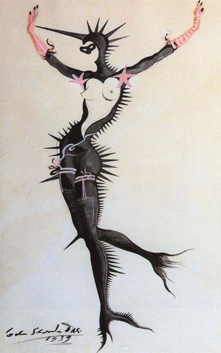 """1939 Salvador Dali """"Dream of Venus"""" or """"Mermaid in Black"""""""