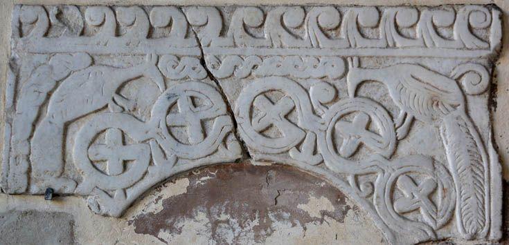 ВИЗАНТИЯ В КАРТИНКАХ - Рельефы с орнаментом из старых римских церквей - 5. Флора и фауна