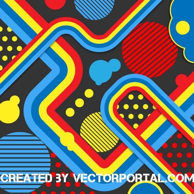 Retro vector background.