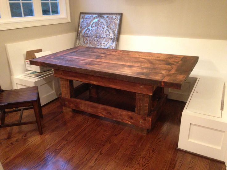 46x78 salvaged farmhouse table theangrysawhorse for Cie 85 table 4