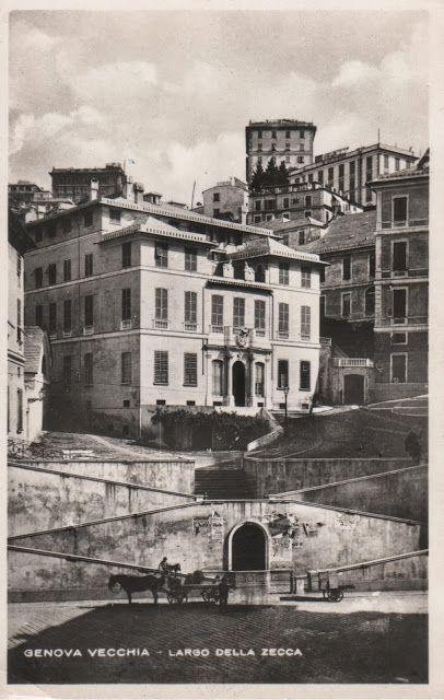 C'ERA UNA VOLTA GENOVA : Largo della Zecca , seconda metà 1800, prima della…