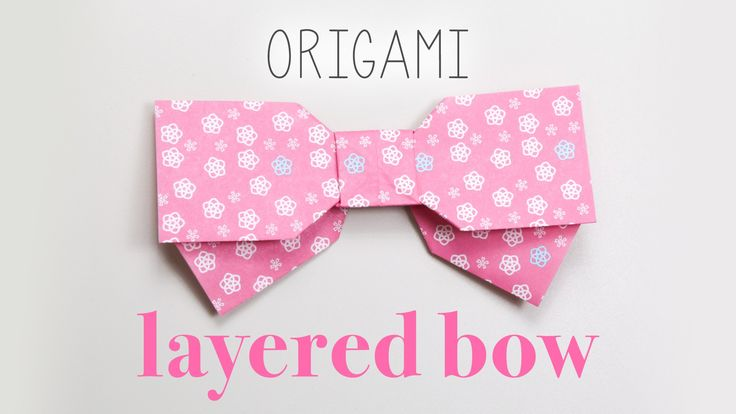 Origami Bow Instructions - Layed Effect - Paper Kawaii - #origami #paper #cute #bow #crafts #diy #instructions
