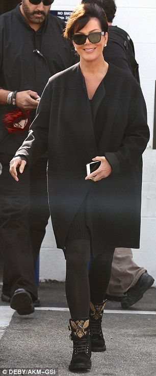 Kris Jenner cuts youthful figure in all-black a day before turning 60