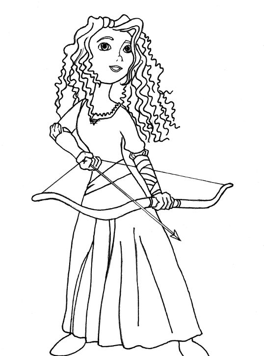 archery coloring pages free - photo#23