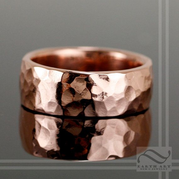 8mm Hammered Copper Wedding Band By Mooredesign13 On Etsy 80 00 Any Metal Would Do Though
