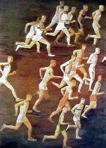 Кросс / Cross-country running by Alexander Deineka (1932)