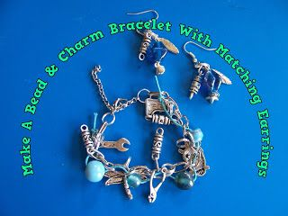A Pretty Talent Blog: Make A Charm & Bead Bracelet With Matching Earrings