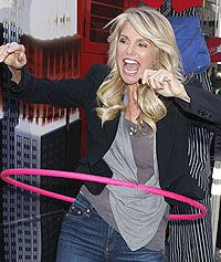 Christie Brinkley Hula Hoops For World Smile Day: http://www.hooping.org/2012/10/christie-brinkley-hula-hoops-for-world-smile-day/