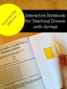 Free interactive notebook with step by step directions for creating an array to solve a division problem. 5.NBT.B.6