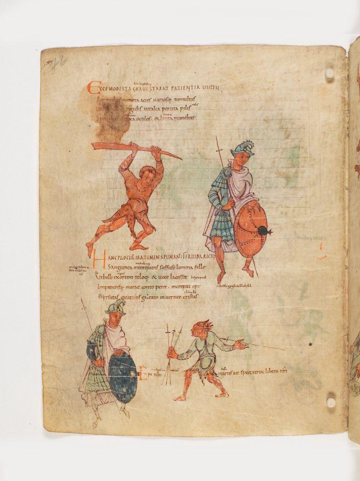 Bern, Burgerbibliothek, Cod. 264, Prudentius, Carmina, p.76, region of Lake Constance, around 900