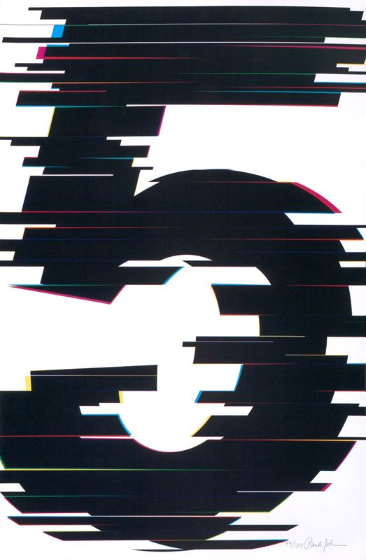 5 (Number Series) by Paula Scher | Vintage Posters at International Poster Gallery