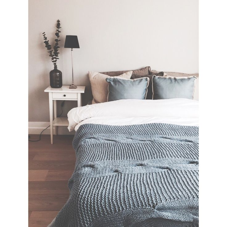 Blue details #bedroom #design #interiordesign #interior #home #bolig #interiør