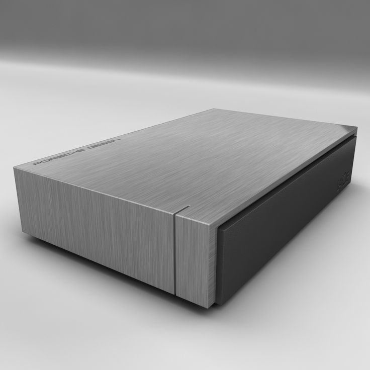 LaCie Porsche Design 4TB  LaCie Porsche Design HDD Disk PC portable USB 3.0 Storage data   Modeling: 3ds Max 2009 Rendering: V-Ray 2.0 Polygons: 13 118  Vertices: 14 624