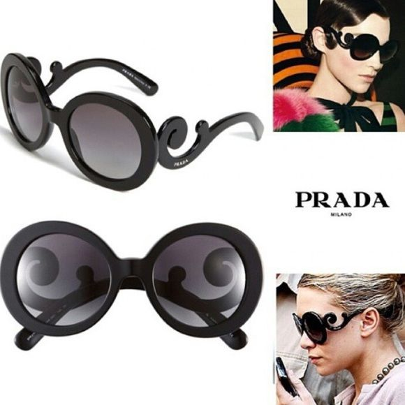 Prada Baroque Sunglasses New, unused. Authentic, from Neiman Marcus. Perfect condition. They come with a white case and a cleaning cloth. NWOT Prada Accessories Sunglasses