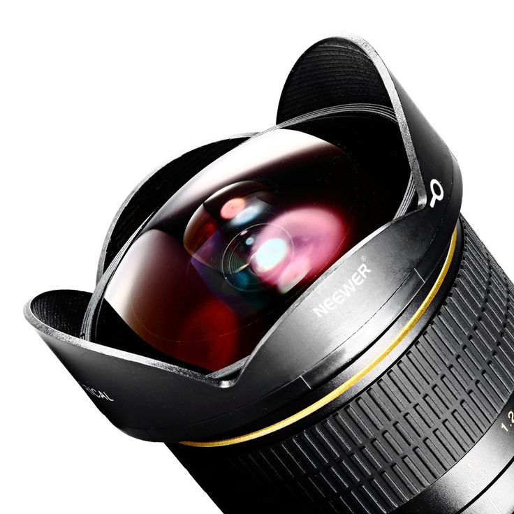 Amazon.com : Neewer Pro 8mm f/3.5 Aspherical HD Fisheye Lens for Nikon DSLR 8-8mm with Protective Lens Cap, Removable Lens Hood and Carrying Bag : Camera & Photo