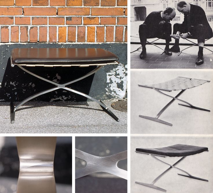 Stool designed by Preben Fabricius and Jørgen Kastholm. For further information, please contact bo-ex furniture: bo-ex@bo-ex.dk