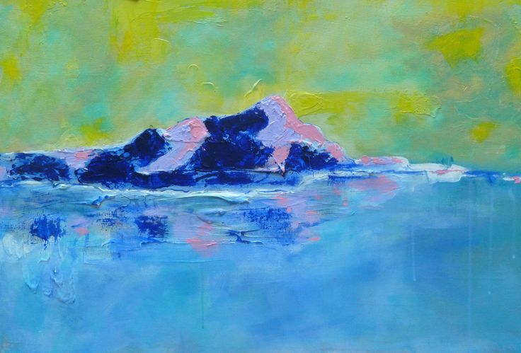 Islet I - This series is about 'love'.  As Kahlil Gibran said 'Work is love made visible'  'love' is of the islets off where I live in the Saronic Gulf.  You will discover different colours of the sunshine in these works.