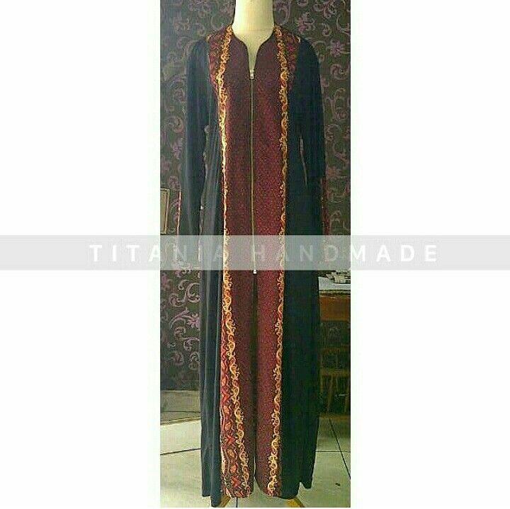 Gamis jubah jersey kombinasi sonket set iket pinggang. Ready stok all size @300 Open order seragaman lebaran'18 please contact us on 081357547888