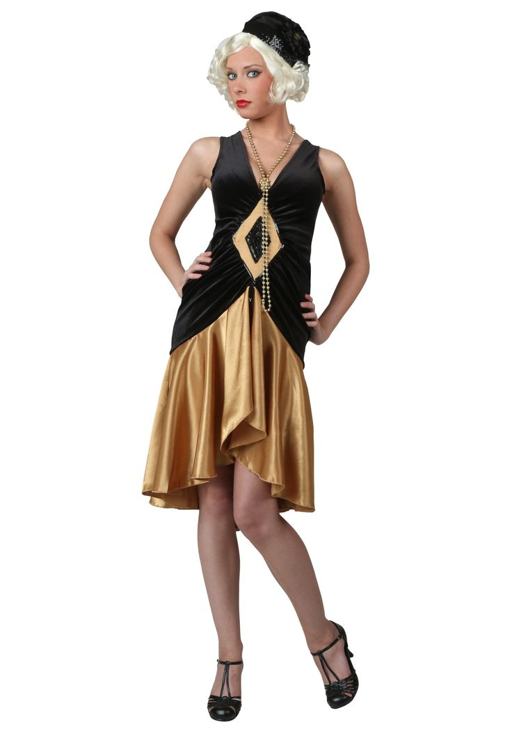 This fashionable plus size roaring 20's flapper costume dress is a new take on a traditional style flapper dress. Available in plus sizes 1X-5X.