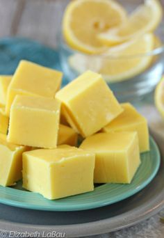 Smooth, creamy lemon fudge is so easy to make! You can try dipping the squares in chocolate, too!