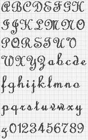 Resultado de imagem para grafico de letras em ponto cruz