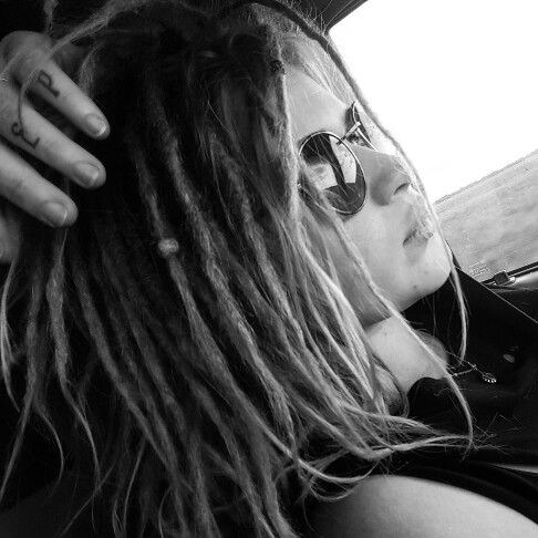 Short dreadlocks.                                                                                                                                                                                  More