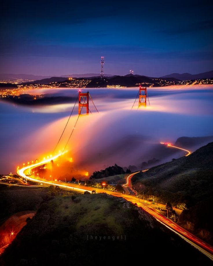 San Francisco Fog Map Live%0A Local photographer Engel Ching captures beauty of foggy San Francisco