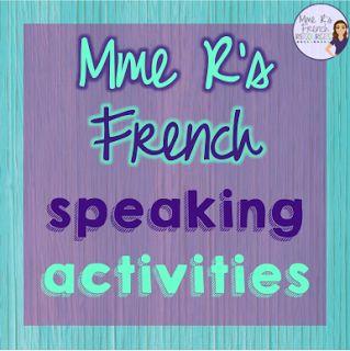 Frenchspeakingactivities,games,andskitsfromMmeR'sFrenchResources
