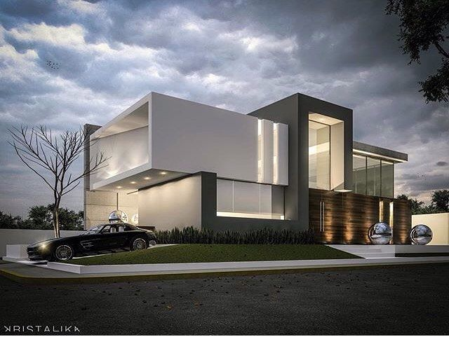 2348 best arquitetura images on pinterest for Facade villa moderne