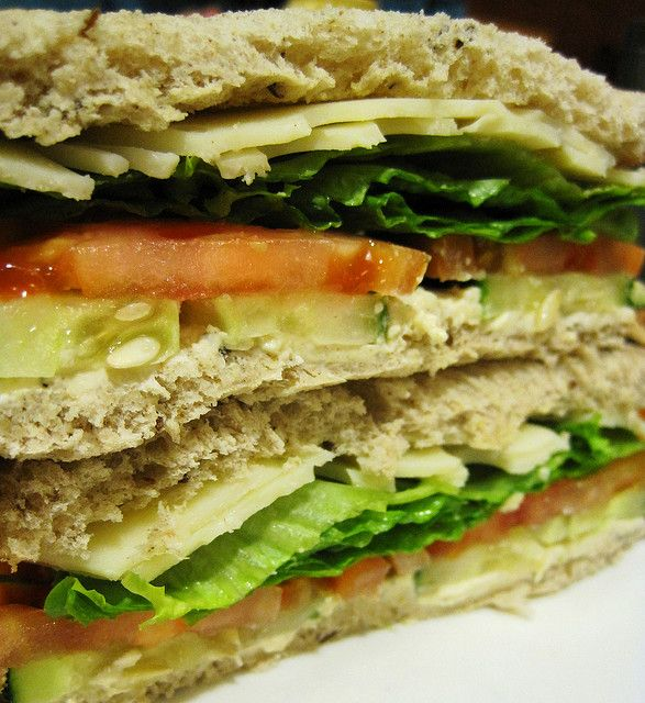 Cucumber Cream Cheese Sandwich - Mild and refreshing cucumber perfectly balances the colorful personalities of light rye bread and savory cream cheese spread