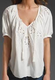 white embroidered top - Google Search