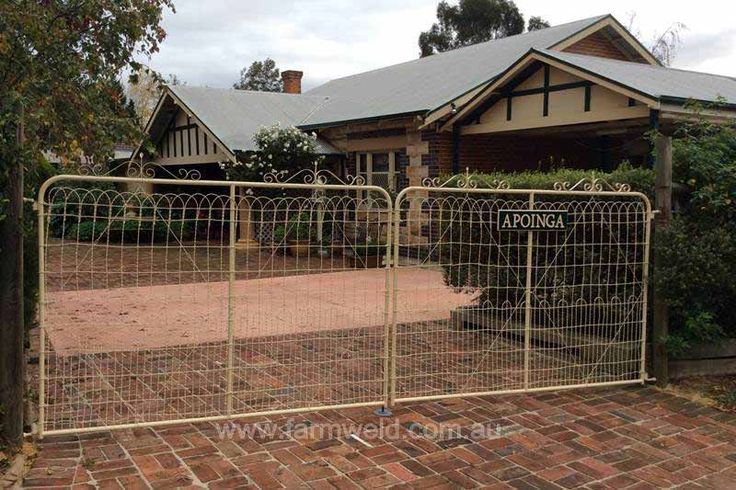 'Raphaelle' gate was made taller to accommodate the customers own original woven wire. Mt Barker, Adelaide Hills, SA