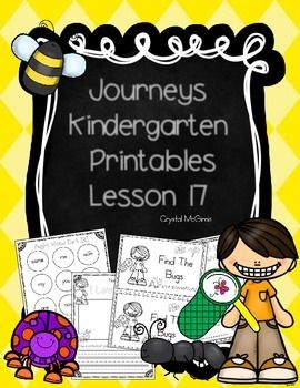 I created this set of supplementary printables to use while I am teaching lesson 17 of the Kindergarten Journeys reading series. We use the 2011 version of Journeys. This set includes whole group activities, independent practice, and a small group emergent reader.