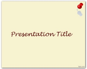 This is Thumbtack PowerPoint template, a free template with sepia background color that you can use to create presentations that require a pinpush image in the top right