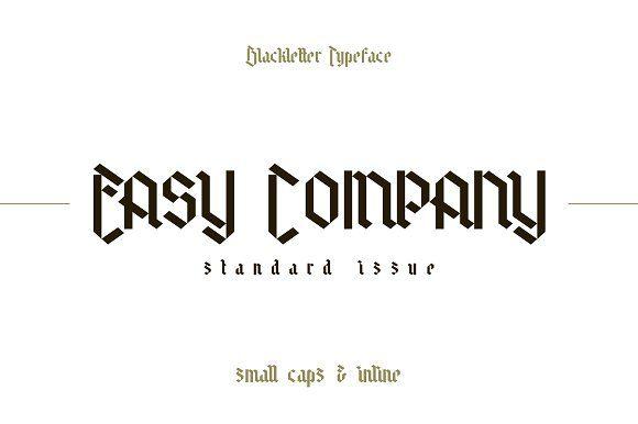 Easy Company Small Caps by thomas_ramey on @creativemarket