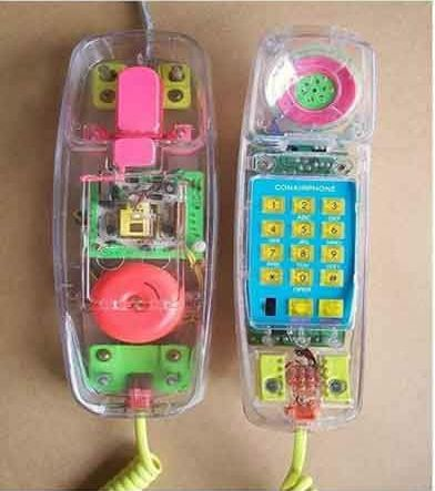 90s clear neon phone. I spent hours on one of these. I saved my first paycheck just to buy one.
