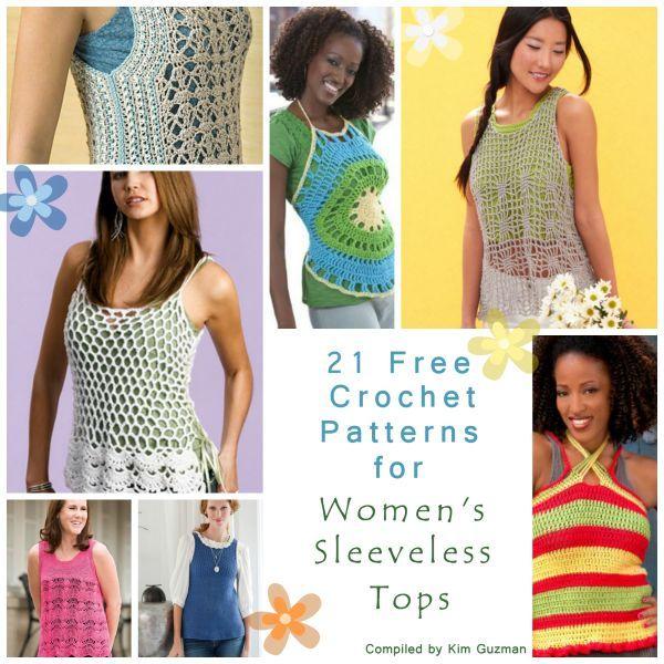 Link Blast | WIPs 'N Chains | 21 Free Crochet Patterns for Womens Sleeveless Summer Tops Tanks