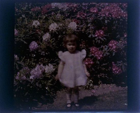 charles-c-zoller-rhododendron-with-girl-1931-autochrome