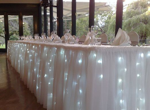 Party Lights Company - Bride and Groom Table