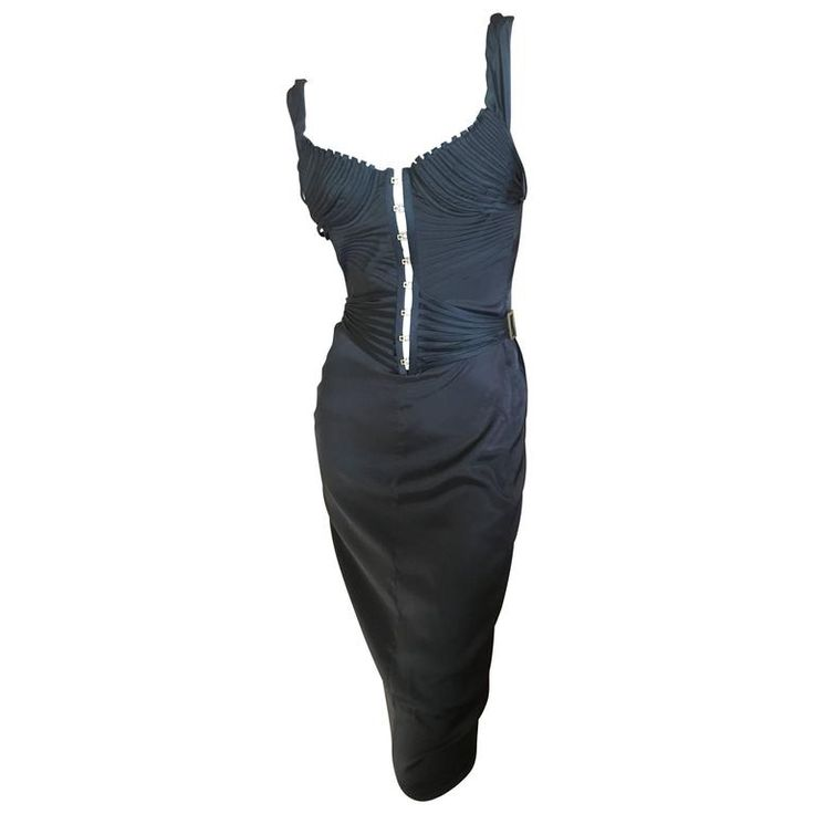 Gucci by Tom Ford Black Corset Dress Tom Ford Book Dress on SJP | From a collection of rare vintage evening dresses and gowns at https://www.1stdibs.com/fashion/clothing/evening-dresses/