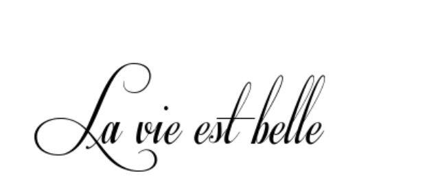 La vie est belle, das Leben ist schön.