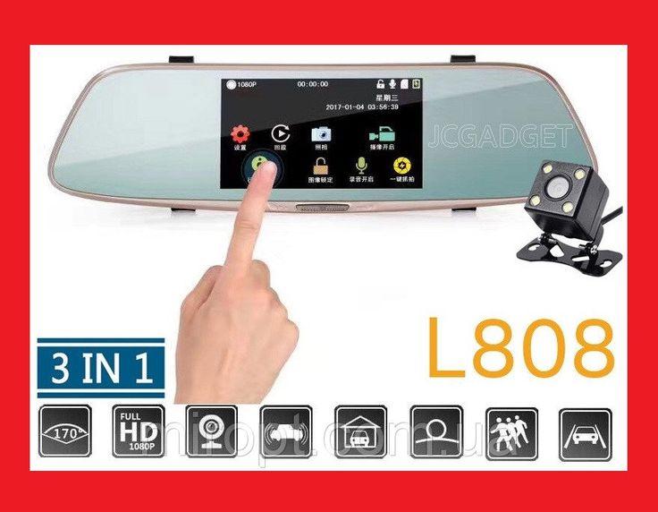 """Зеркало заднего вида с видео регистратором DVR L808 Full HD 5"""" сенсорный экран http://kupika.profit117.ru/i3744263-zerkalo-zadnego-vida-s-video-registratorom-dvr-l808-full-hd-5-sensornyy-ekran.html  Зеркало заднего вида DVR L808 ― идеальное место, чтобы спрятать видеорегистратор. Такой девайс не будет занимать дополнительное место на лобовом стекле, его практически не видно снаружи. Данное зеркала заднего вида со встроенным регистратором крепится на резинках поверх штатного зеркала. 5""""…"""